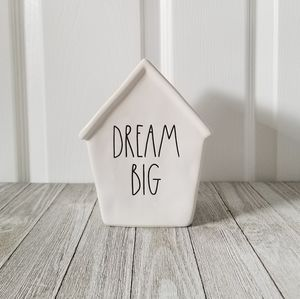 Rae Dunn DREAM BIG Ceramic Piggy Bank